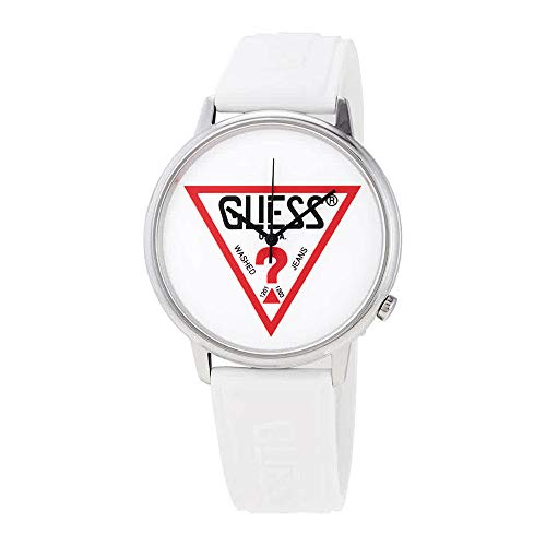 GUESS Originals Silver-Tone and White Logo Watch
