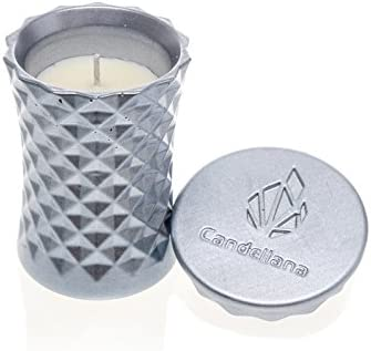 Poly II Scent Lilac Orient Wood Candellana Candles Candlefort Concrete Candle
