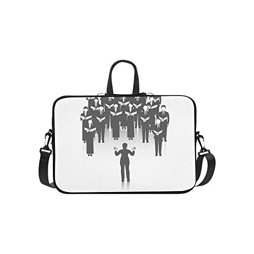 - Laptop Bag Choir Girls and Boys Singing A Song Shoulder Bag Crossbody Bag Double Zipper for Men Women College Students Boy Business Travelling School Business Trip
