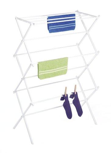 Whitmor 6023-741 Folding Clothes Drying Rack, White