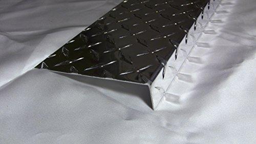 Aluminum Diamond Plate Angle .062 x 1 x 5 x 48 in. Offset UAAC (2pcs) | (1/16 x 1 x 5 x 48 in.)