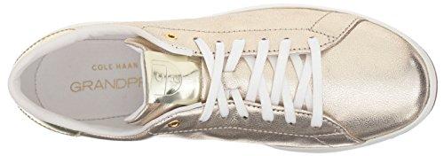 Cole Haan Womens Grandpro Tennis In Pelle Pizzo Bue Moda Sneaker Platino Glitter