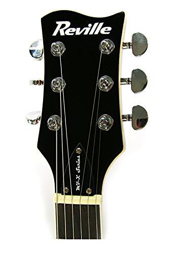REVILLE mv-x Maverick Series Guitarra eléctrica de cuerpo sólido - azul flameado Burst: Amazon.es: Instrumentos musicales