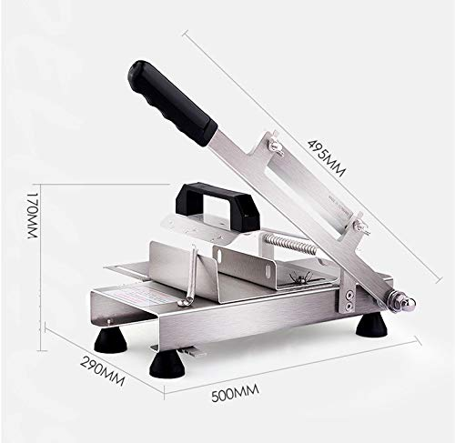 CGOLDENWALL Stainless Steel Meat Slicer Manual Frozen Meat Slicer Beef Mutton Roll Slicing Machine Vegetable Meat Cutter for Hot Home Cooking Thickness Adjustable 0.5mm-8mm by CGOLDENWALL (Image #1)