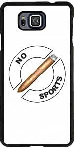 Funda para Samsung Galaxy Alpha - No Hay Deportes by hera56