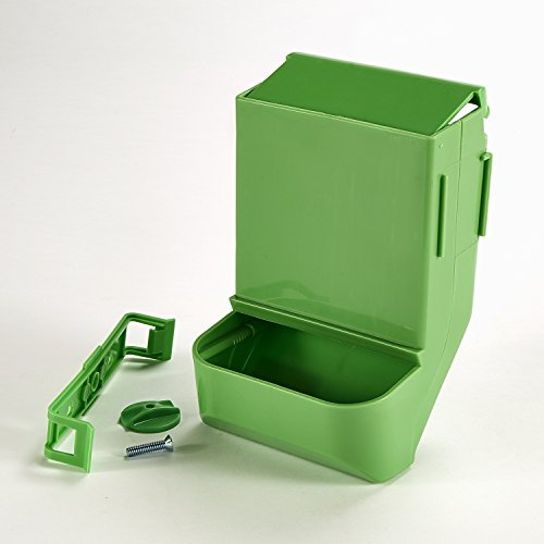 (Kaytee Gravity Bin Feeder with Bracket)