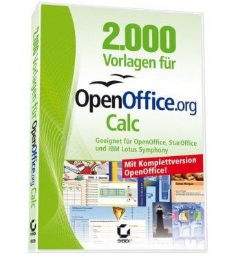 2000 Vorlagen Für Openoffice Calc Amazonde Software