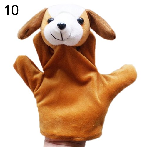[Delicate Baby Child Zoo Farm Animal Hand Glove Puppet Finger Sack Plush Toy^dog.] (Kermit The Frog Mens Halloween Costume)