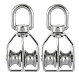 Rocaris 4 Pack Stainless Steel Wire Rope Crane