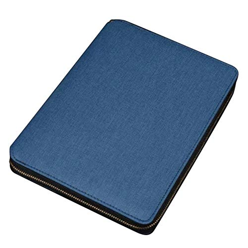 A5 Refillable Leather Business Notebook Binder Travel Dairy Zipped Conference Folder (Conference Zipped Folder)