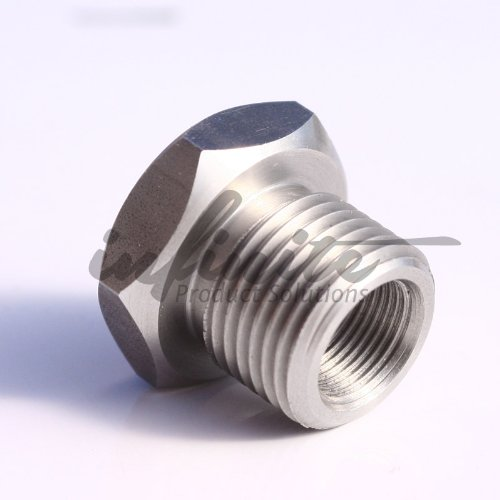 Stainless Solvent Trap 1/2-28 13/16-16 Thread Oil Filter Adapter, Outdoor Stuffs