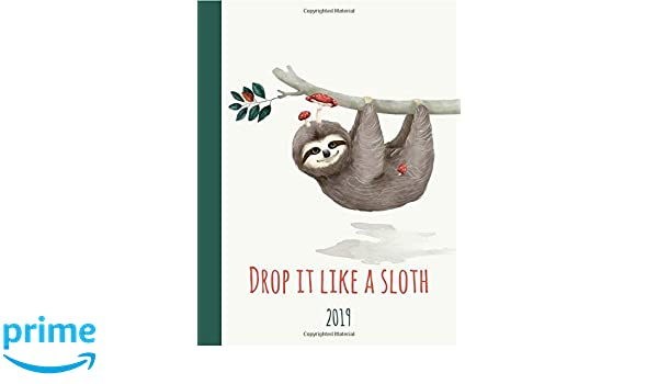 Drop It like a sloth 2019: 1 Year planner, student, Family ...