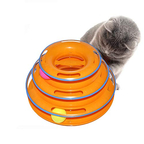 NACOCO Tower of Tracks Cat Toy Pet Toy with The Balls Pet Am