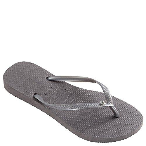 Havaianas Slim Crystal Glamour Sw Sandal, Steel Grey,41/42 BR