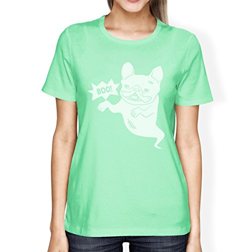 Camiseta de una manga French 365 mujer Bulldog corta para pieza de Ghost Printing Boo 6Xaxtqw5