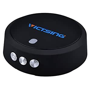 VicTsing Bluetooth 4.0 Music Audio Receiver Adapter NFC-Enabled Hands-Free Car Kit with APTX Technology - Retail Packaging - Black