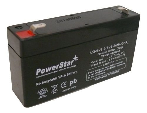 6V 1.2AH SLA Battery - Back-up Battery for GE Simon & XT Panel - 2 YEAR WARRANTY
