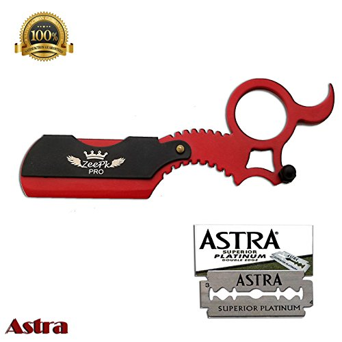 Finger Razor Barber Cut Throat Safety Razor Thumb Insert RASIORS NAVAJAS USA (Astra)
