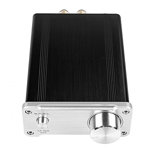 SMSL SA 36A Pro TPA TA AMP HIFI Big Power Digital Integrated Tripath Stereo Amplifier with 12V 3.8A Power Adaptor Silver by SMSL