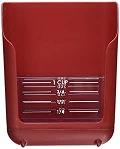 Chefs Planet Prep Taxi Measuring Scoop, Red