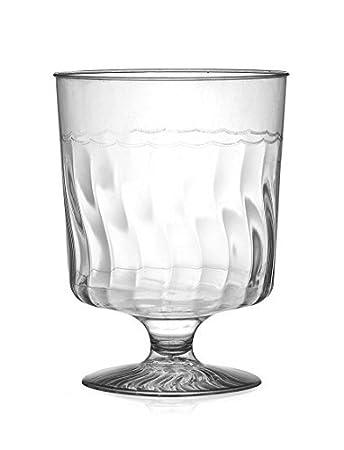 One Piece Wine Glass 120 Pieces Fineline Settings Flairware Clear 8 oz