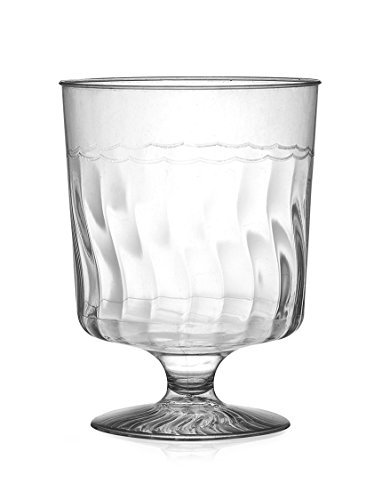 Fineline Settings Flairware Clear 8 oz. One Piece Wine Glass 120 Pieces