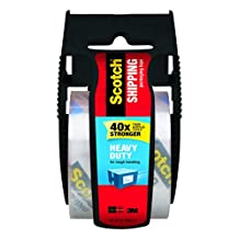 Scotch Heavy Duty Shipping Packaging Tape, 1.88 x 800 Inches, Black Dispenser (142-BL)