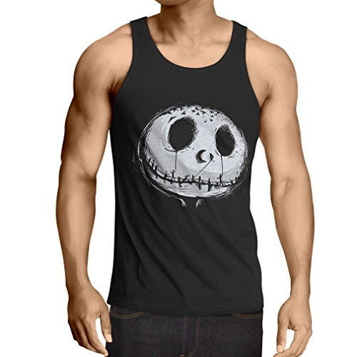 Halloween Costume Joe Dirt (Vest Scary Skull Face - Nightmare - Halloween Outfit Party Costumes (Medium Black Multi Color))