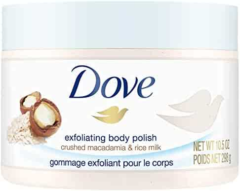 Dove Exfoliating Body Polish Body Scrub, Macadamia & Rice Milk, 10.5 oz