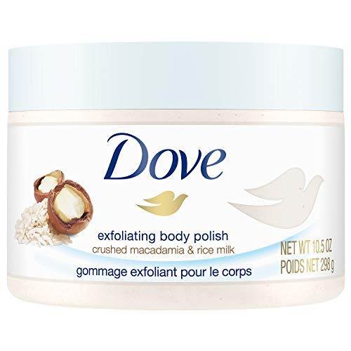 (Dove Exfoliating Body Polish Body Scrub, Macadamia & Rice Milk, 10.5 oz)