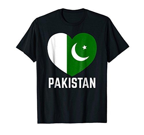 (Pakistan Flag Heart Independence Day Men Women Kids T-shirt)