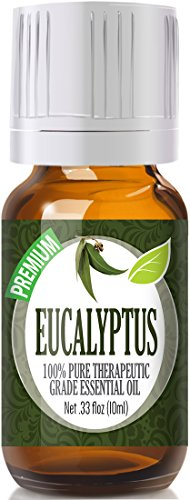 Eucalyptus 100% Pure, Best Therapeutic Grade Essential Oil - 10ml (Best Aroma Young Coconut)