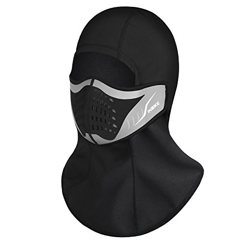 Balaclava Polar Mask - INBIKE Winter Face Mask, Polar Fleece Windproof Outdoor Sports Warm Balaclava for Men Women (Lycra + polar fleece)
