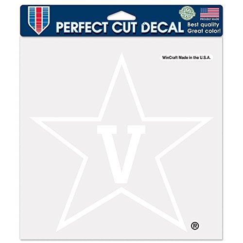 Vanderbilt Commodores Wall - NCAA Vanderbilt Commodores Perfect Cut White Decal, 8 x 8-Inch