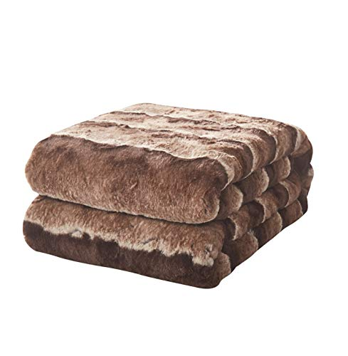 Tache Chocolate Golden Brown Striped Throw Super