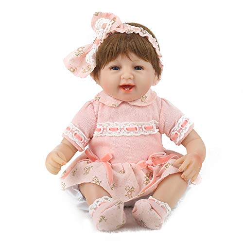 CHAREX Reborn Toddler,Realistic Baby Doll Girl 16'' Weighted Handmade Doll,Named Thalia