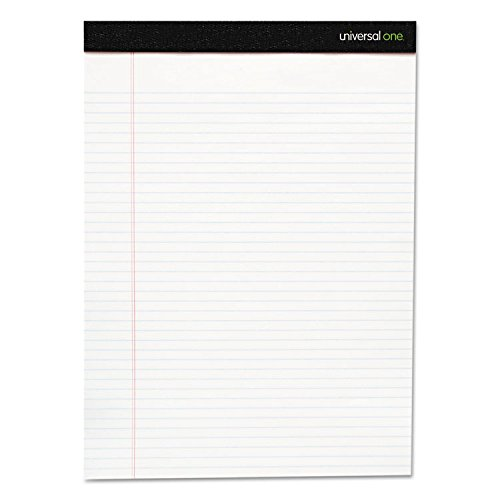 Universal 30730 Premium Ruled Writing Pads, White, 8.5 x 11.75, Legal/Wide, 50 Sheets, 12 Pads ()