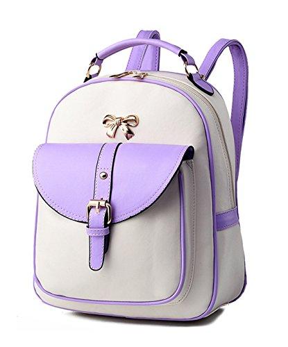 Pu Keshi Niedlich Freizeitrucksack 1 Qualität Rucksäcke Einfache accessories hohe Tasche Tasche Lila Schultertasche Damen R6qcdZWq