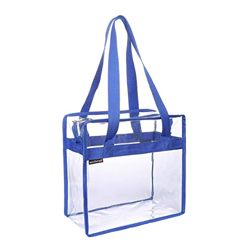 (Scout Jump Clear Bag Stadium Approved Women Tote Bag with Zipper Closure is Perfect for Work,School,Sports Games and Concerts. See-Through Transparent Shoulder Bag 12