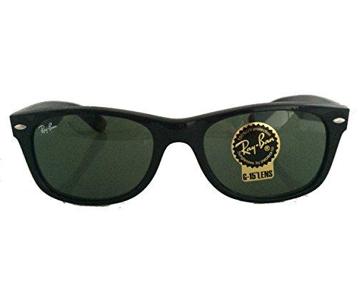 Ray-Ban Black Large Wayfarer RB 2132 901 55mm + Free Glasses + Cleaning - 901 Rb2132