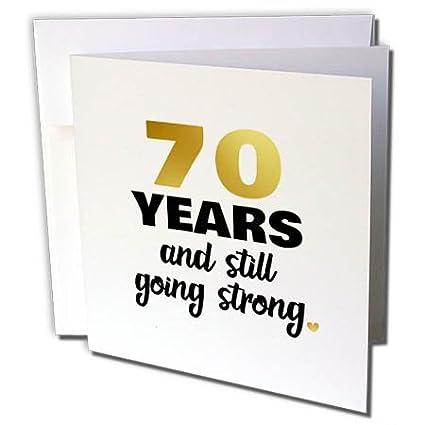 70 Anniversario Di Matrimonio.3drose Biglietto Di Auguri 70 Anniversario Still Going Strong