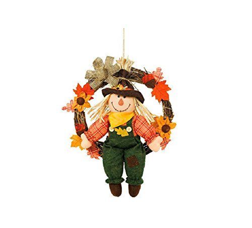 Amscan Scarecrow Swinging in Wreath Fall Wall Décor 20