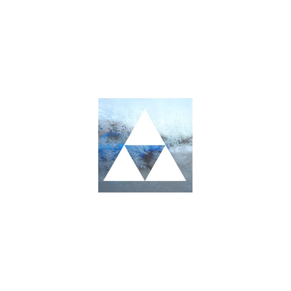 Zelda Triforce White Decal Car Laptop Window Vinyl White Sticker
