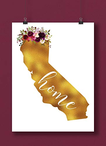 California Gold Floral Home Art Print from Gallery Gift Shop