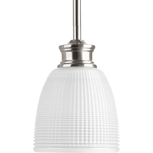 Progress Lighting P5088-09 Traditional/Casual 1-100W Med Mini-Pendant, Brushed Nickel