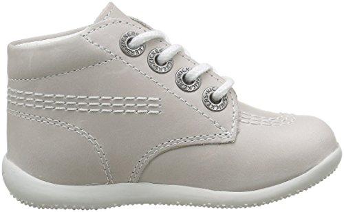 Kickers Billy - Zapatos de punta redonda con cierre de cordón Gris (Blanc Pf)
