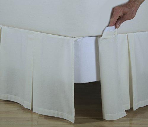 Detachable Cotton Bedskirt (D. Kwitman & Son Box Pleat Detachable 18