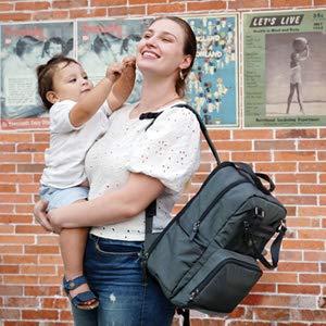Baby/Rucksack mit Mehreren F/ächern f/ür Papa und Mama Hafmall Wickelrucksack Wickeltasche mit Schnullertasche