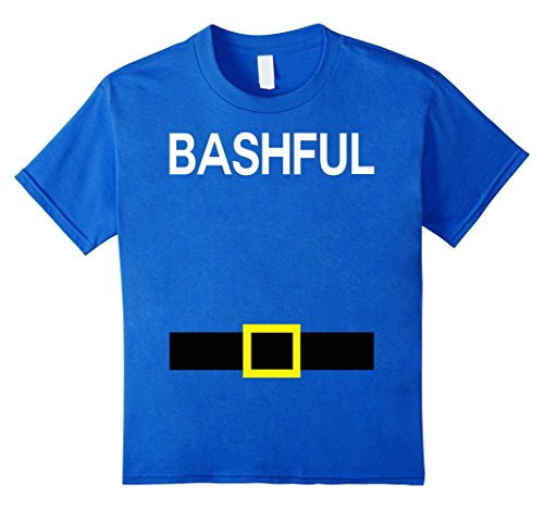 Halloween Family Costumes Four (Kids Bashful Dwarfs Names Halloween Group Costume TShirt Matching 4 Royal)