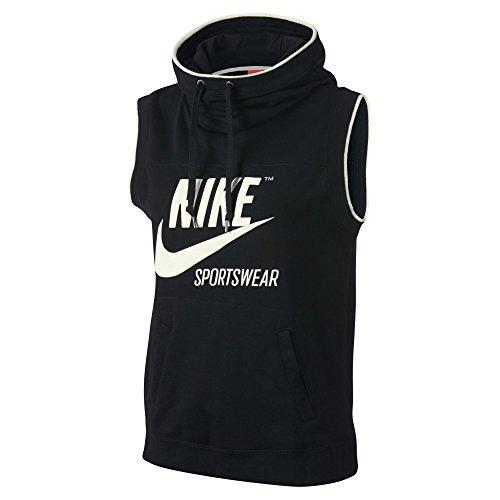 NIKE Sportswear Sleeveless Archive Women's Hoodie, Black/Sail, Medium by NIKE